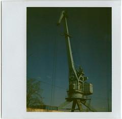 giraffe (odnakapysta) Tags: sky film polaroid instant giraffe spectra 2009 lifting