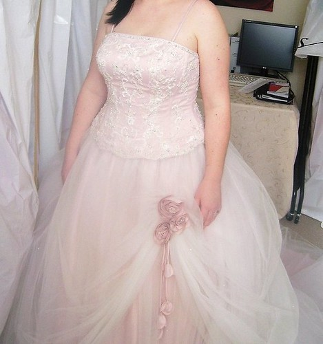 Ronald Joyce Pale pink wedding dress size 1216 by you