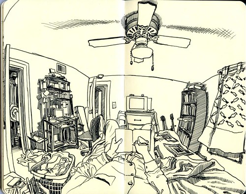 drawing in the bedroom
