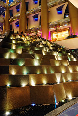 step fountain, Burj Al Arab (Simbon) Tags: fountain hotel dubai uae middleeast burjalarab atrium luxury unitedarabemirates jumeirah      luxuryhotel   arabianpeninsula 7starhotel  towerofthearabs jumeirahgroup sailboathotel          7