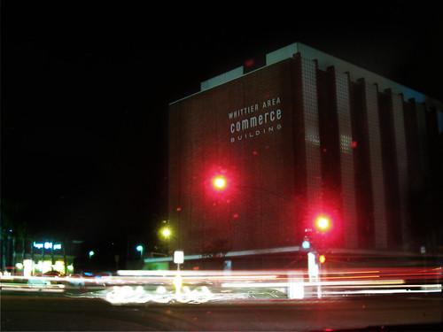 commerce building by night