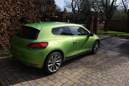 Volkswagen Scirocco New Green Front · Volkswagen Scirocco New Green Rear