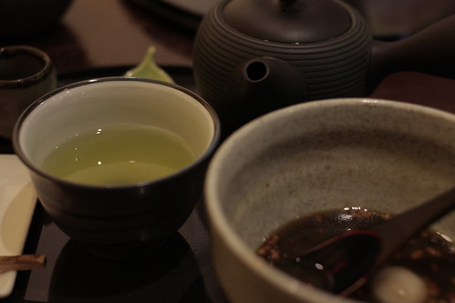 Green tea and dumplings, Leaf cafe, Tokyo
