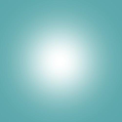 Composición abstracta (degradado radial de blanco a azul claro)