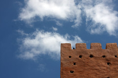 Part Of The Bab (MykReeve) Tags: blue sky cloud wall clouds gate morocco bab meknes babelkhemis المملكةالمغربية المغرب مكناس geo:lat=33891267 geo:lon=5572445