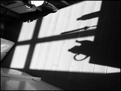 three objects in the morning kitchen (sulamith.sallmann) Tags: windows shadow bw berlin window silhouette architecture deutschland fenster pot jug architektur sw dishes household schatten deu krug crockery kanne tableware geschirr haushalt schattenriss sulamithsallmann