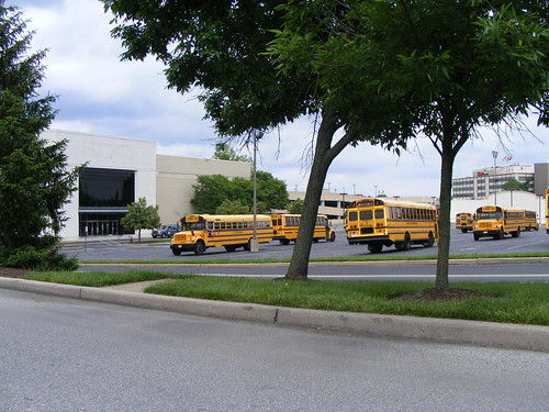 School Buses Behind Former Hecht's, Wheaton Plaza