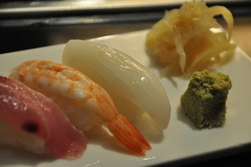 你拍攝的 花枝壽司。