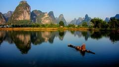 Lake Reflection, Guangxi, China  (hk_traveller) Tags: china lake reflection canon mirror photo interestingness interesting explore turbo 2009 sx1 nanning  280 guangxi  top500  interestingness280 i500 turbophoto  canonpowershotsx1is