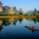 Lake Reflection, Guangxi, China 湖光倒影