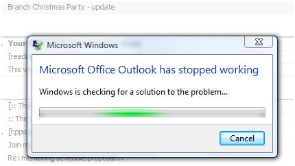 Outlook Stopped Working
