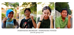 Indonesia Memilih - Indonesia Voted (khaniv13) Tags: portrait indonesia election president group hijab vote voters pemilu indonesiamemilih indonesiavoted collect1000portraits pilpres 8juli2009 jointhegroupnow upcoming:event=2902411