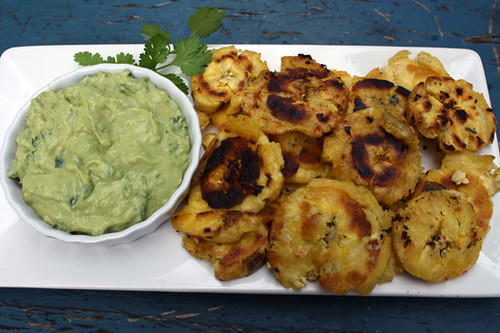 Tostones with Green Sauce 2