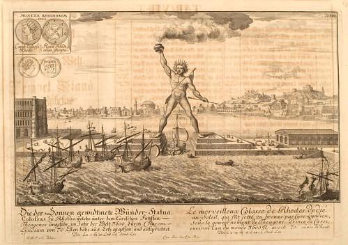004- El coloso de Rodas-Entwurf einer historischen Architektur 1721- © Universitätsbibliothek Heidelberg