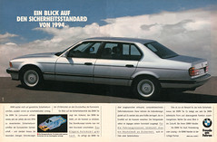 BMW 7er E32 (1990) (jens.lilienthal) Tags: auto old cars car print advertising media reclame ad voiture advertisement advert older bmw autos werbung 1990 reklame voitures anzeige e32 7er