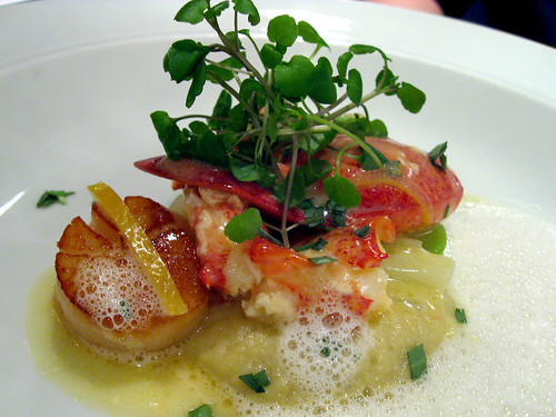 Butter poached N.S. lobster, Digby sea scallops, Fennel puree, preserved lemon.