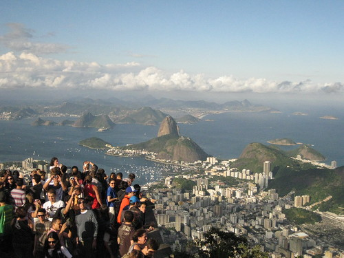 crowds on Corcovado