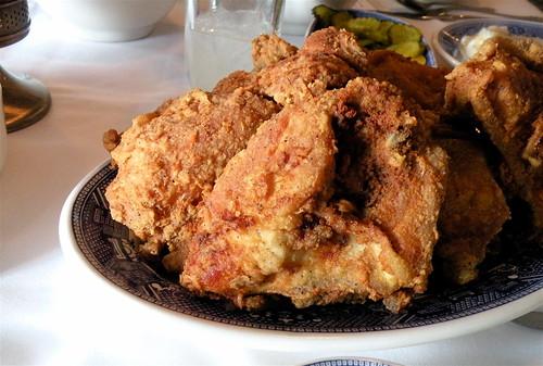 fried chicken at Brookville Hotel