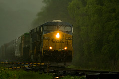 Rain train (smbrooks_2000) Tags: railroad summer newyork rain weather train rail bearmountain hudsonriver locomotive iona raining csx freighttrain riverline freightcars csx5306