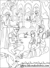 Baby Krishna Coloring Pages
