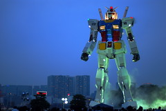 gundam (totomai) Tags: city japan 50mm tokyo robot nightshot smoke animation blogged odaiba gundam onlyinjapan 18f challengeyouwinner nikond80