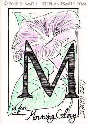 M is for Morning Glory
