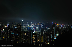 View from the Top (Arvind ( www.dreamexposures.com )) Tags: china city travel light sea vacation sky urban holiday building tower tourism glass beautiful beauty stone skyline architecture modern night skyscraper port landscape asian hongkong harbor pier office colorful asia downtown neon ship cityscape view harbour steel chinese peak scene victoria hong kong business busy metropolis tall economy finance skyliner