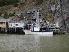 Quidi Vidi Village (Orion 2) Tags: cliff newfoundland stjohns fishingboat fishingshacks
