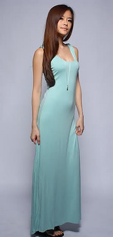 AGNESELLE cut out vested maxi JADE