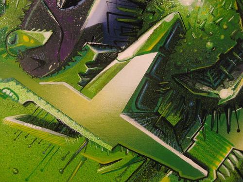 Die Kunst: Detailaufnahme: SEAK Leinwand