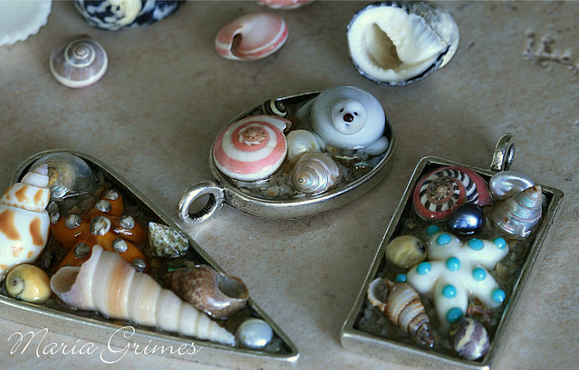 Lampwork Tide Pool Pendants