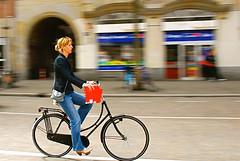 Riding a bike, Amsterdam