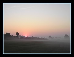 Sunrise (m00nscape) Tags: sun nature sunshine sunrise haze hazy simple atmospheric bad morning morning mist poor misty composition m00nscape