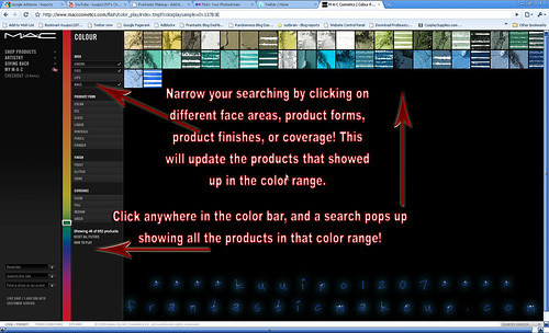 MAC Cosmetics Search By Color Narrowed