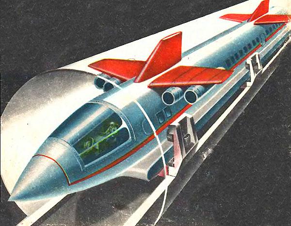 Concepção de 1967 Trem a jato soviético