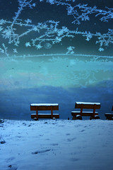 Ice Night (_David_Meister_) Tags: blue schnee cloud snow texture ice night bench frost crystals nacht dream wolke blau benches eis texturing kristall traum textur kristalle overtheexcellence davidmeister