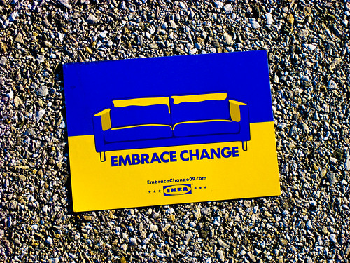 Day 24: Ikea says embrace change by RSchley.
