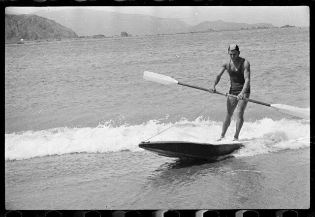 Dominion lifesaving championships, Lyall Bay, Wellington. 1950