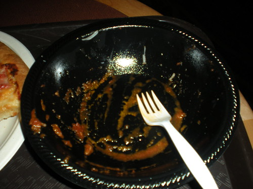 The aftermath, I demolished this dish.