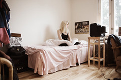 Close to home (msvenssons) Tags: girl bed filmstills milky closetohome msvenssons malinsvensson