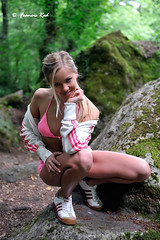 Natallia Fitness Girl #5 (Francis_Red) Tags: wood woman cute nature girl smile look fashion sport photography photo model glamour nikon shoes long legs outdoor blonde belarus fitness d3 natallia gymnic