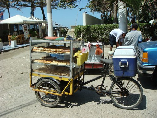Mobile bakery in Cartagena.