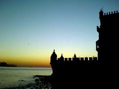 Torre de Belem (leckerkeks) Tags: sunset portugal torre sonnenuntergang lisbon belem
