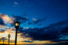 sunrise at rye beach (alan shapiro photography) Tags: sky color clouds sunrise boardwalk lampposts golddragon colourartaward colorsinourworld ashapiro515 2010alanshapiro alanshapirophotography wwwalanwshapiroblogspotcom 2010alanshapirophotography