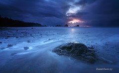 Glistening Rock at Dusk (DanielEwert) Tags: ocean park camping storm art nature rock night landscape photography photo washington waves glow pacific dusk hiking daniel fine dramatic national wa backcountry olympic glistening ewert photocontesttnc09