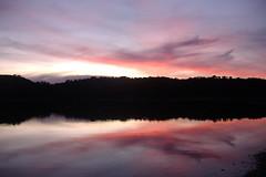 Sunset Idanha a nova (Nuno Katapuno) Tags: camping sunset sky portugal water clouds relax reflex lagoon idanhaanova