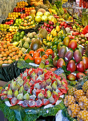 Snacktime!!!! (Rosita So Image) Tags: barcelona orange colour apple fruit spain market fig mango durian lasramblas melon laboqueria colorphotoaward colourartaward pinaplle colorsinourworld