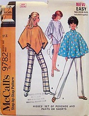 Vitnage McCalls Pattern 9782 Set of Ponchos and Pants or Shorts 60s (Sassy By Design) Tags: vintage clothing mod 60s flickr pattern pants sewing fringe womens international shorts etsy poncho size12 esst etsyvintageteam bust34 sassybydesign waist25 hip36 teamcast sassybydesigncom mccallssewing mccalls9782 cltothingpattern