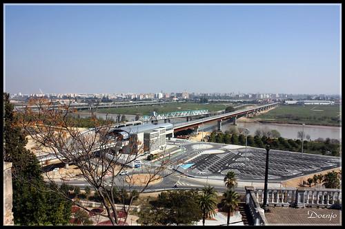 Vista de la Estación del Metro desde San Juan de Aznalfarache