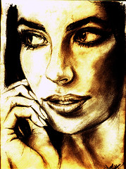 stare (shed-E) Tags: portrait woman girl face look female pencils stare maldives gaze staedtler shede